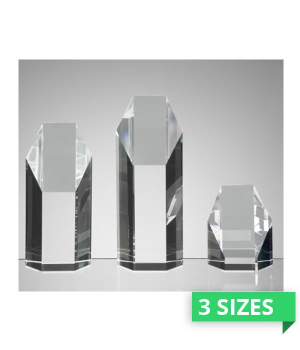 Ashbury Hexagon Crystal Award