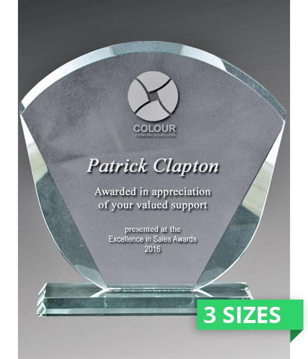 Berkley Fan Glass Trophy