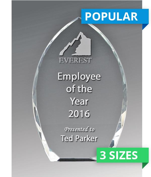 Bevelled Peak Crystal Award