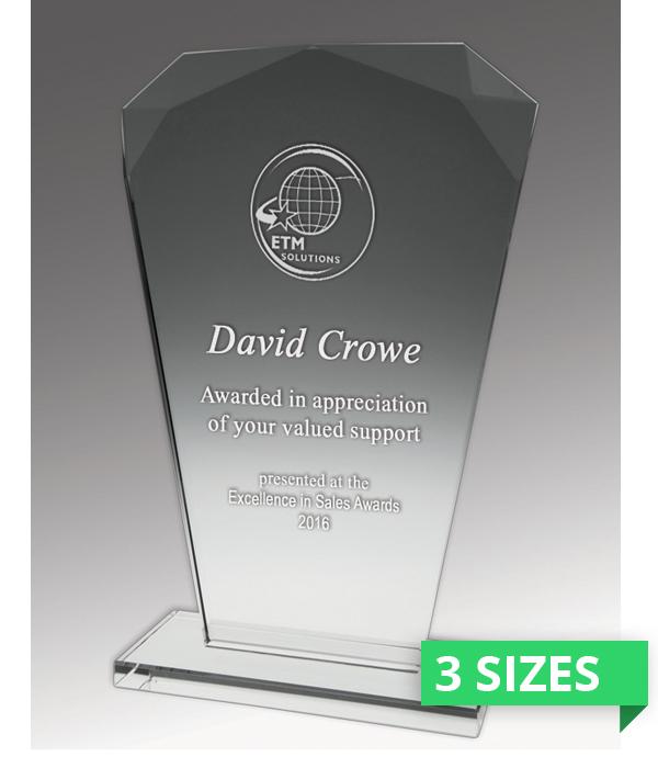 Budget Crystal Fan Trophy