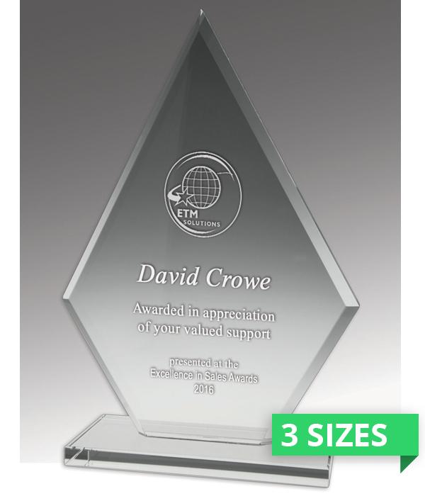 Budget Crystal Spear Trophy