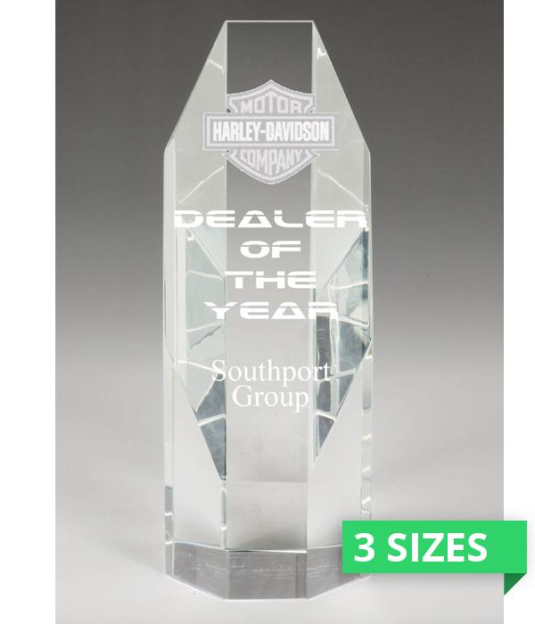 Churchill Sliced Octagon Crystal Award