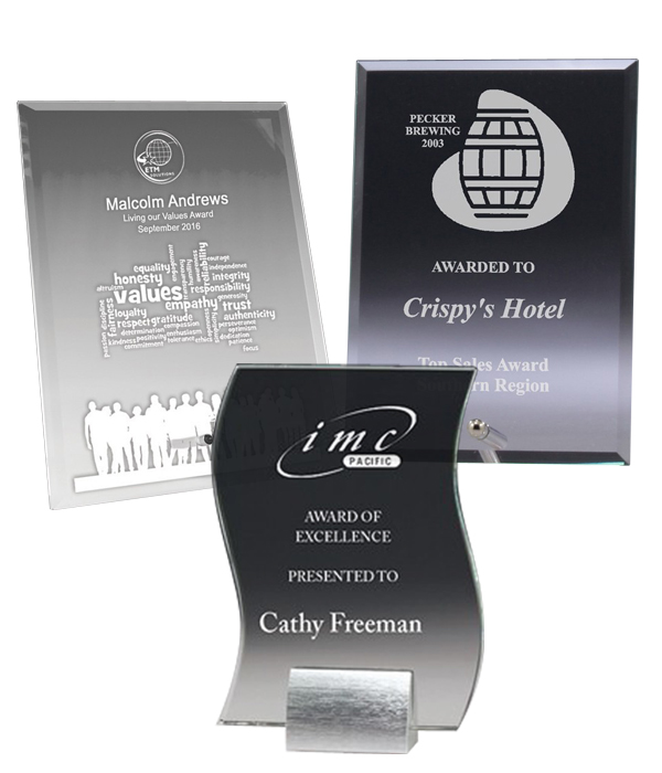 Clear Glass Plaques
