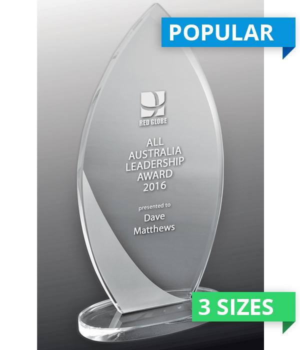 Intrepid Peak Glass Trophy