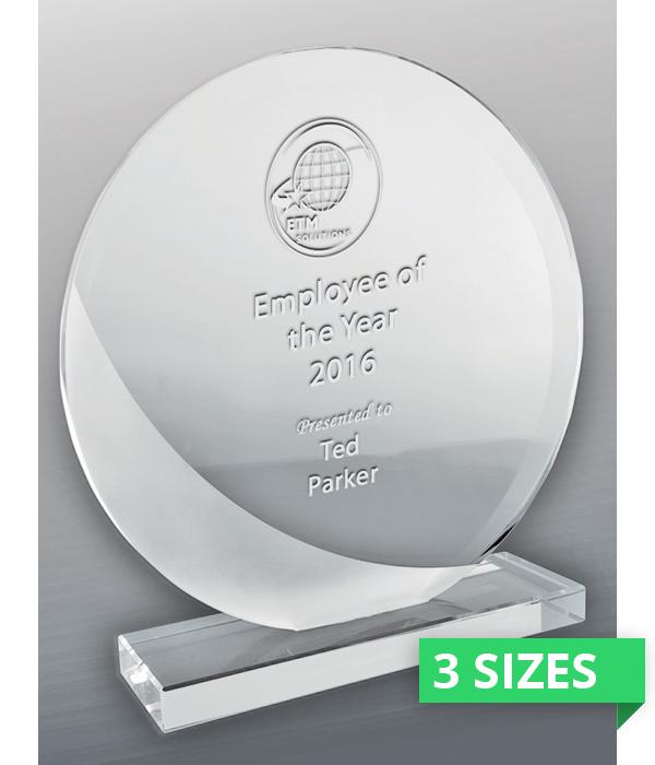 Intrepid Round Glass Trophy