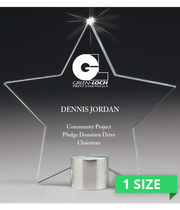Mega Star Glass Award