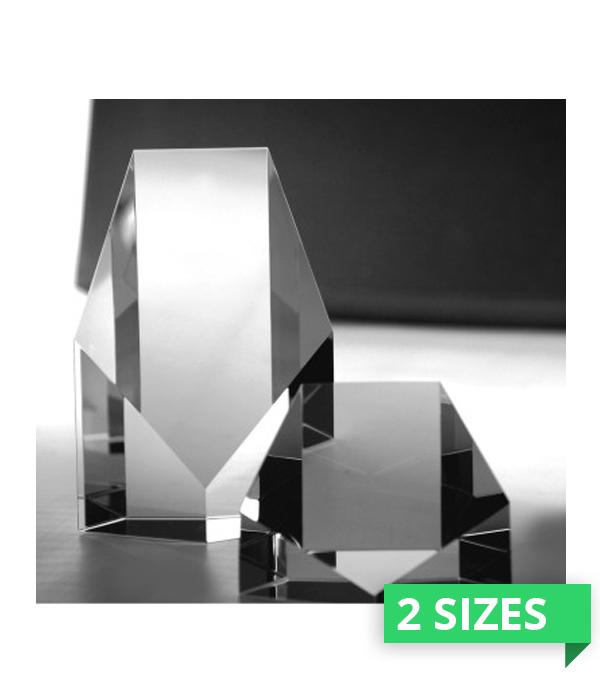 Monarch Pentagon Crystal Award