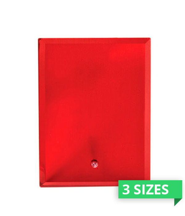 Vivid Glass Red Rectangle