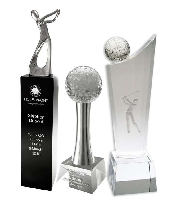 Crystal Golf Trophies