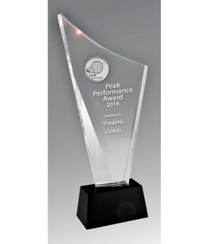 Radiant Torch Crystal Trophy - 180mm