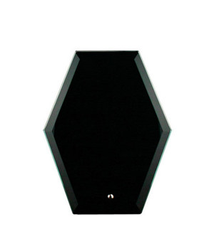 Freedom Black Glass Hexagonal-225mm