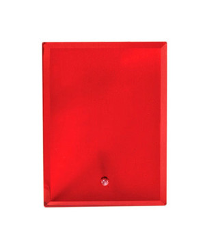 Vivid Glass Red Rectangle-180mm