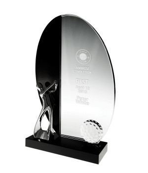 The Links Crystal Golf Trophy - 200mm