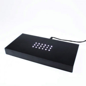 Crystal Light Base - Large rectangle white LEDs - 200mm