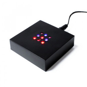 Crystal Light Base - Small square coloured LEDs - 70mm