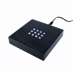 LED LIGHT BASE - LARGE SQUARE WHITE LEDS - 100mm
