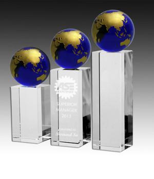 Royal Globe Tower Crystal Trophy-268mm