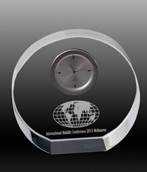 Round Clock Crystal Award-95mm