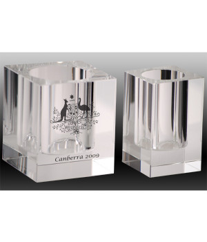 Executive Crystal Pen Holder-80mm
