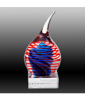 Art Glass Teardrop Trophy-240mm