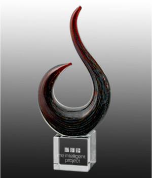 Art Glass Trophy-350mm