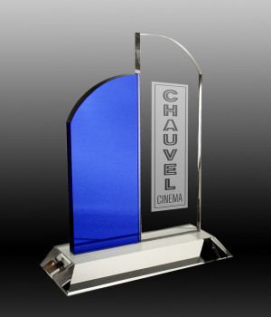 Divided Arch Crystal Trophy-200mm