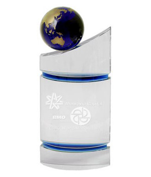 Royal Globe Monument Crystal Trophy-300mm