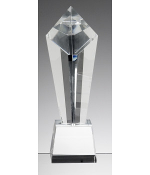 Visionary Tower Crystal Trophy-250mm