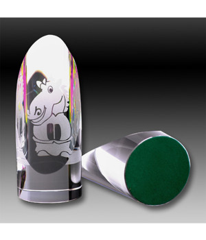 Chromatic Sliced Cylinder Crystal Award-110mm