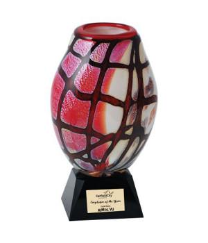 Art Glass Vase Trophy-235mm
