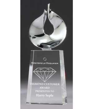 Magestic Prism Crystal Award-250mm