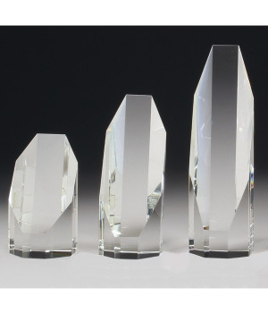 Imperial Sliced Octad Crystal Award-155mm