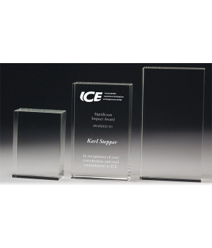 Cambridge Rectangle Crystal Award-170mm