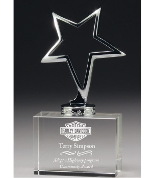 Super Star Crystal Trophy-170mm