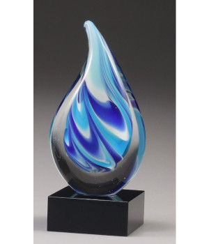 Art Glass Teardrop Trophy-175mm