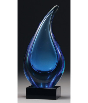 Art Glass Teardrop Trophy-250mm