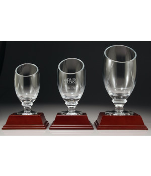 Glass Chalise Trophy-250mm