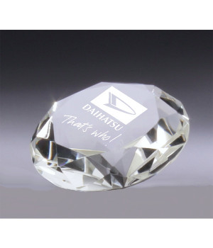 Gemstone Crystal Paperweight Award-100mm