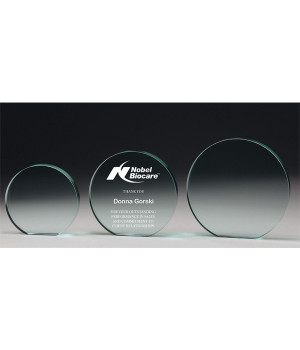 Jade Disc Glass Award-100mm