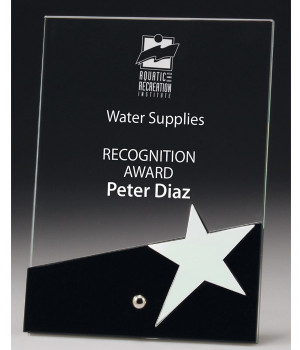 Celebrity Plaque Black Glass Award-180mm