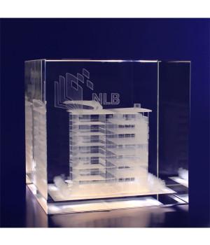 Crystal Cube- 100mm