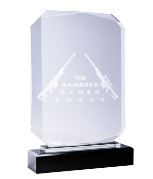 Barrington Rectangle Shield Crystal Trophy -295mm