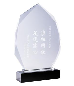 Barrington Peak Shield Crystal Trophy -255mm