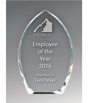 Bevelled Peak Crystal Award-150mm
