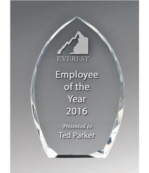 Bevelled Peak Crystal Award-150mm