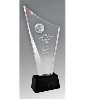 Radiant Torch Crystal Trophy - 210mm