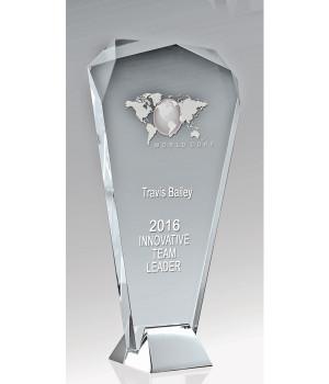 Liberty Fan Glass Trophy-180mm