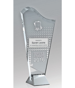 Liberty Harp Glass Trophy-230mm