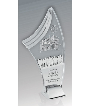 Liberty Merit Glass Trophy-190mm