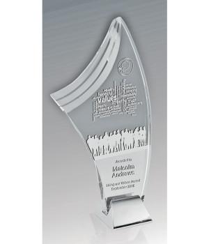 Liberty Merit Glass Trophy-215mm
